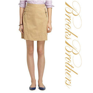 Brooks Brothers Cotton Twill and Quilted Skirt 2